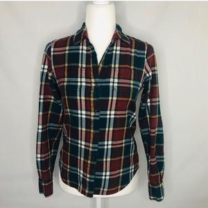 North Face women's flannel button down top Size XS